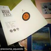 #Repost @pracownia_aquarelle with @make_repost ・・・ Mam pewne podejrzenia...albo to zasługa moich pysznych babeczek albo @tomkoval_  sugeruje mi, że mało pracuję...gdyż kolejny raz obdarował mnie swoim cudownym szkicownikiem...tym razem Torchon 300g 🖤 no cóż są najlepsze 😍🤭  #sketchbook #art #postcard ##sketch