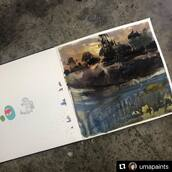 #Repost @umapaints with @make_repost ・・・ Anger management post. After the morning sketching session that was tight and wrong, I tried to take solace in directwatercolor showing landscape scenes so I wouldn't have to 'match' any motif. 6 attempts and still don't know how to make delicious mud. The saga continues this week.   You recall my asking of how to make Sattley Barn scene interesting last week the answer to which is a hidden figure and cattle 🐄 entering the barn. However to get to the temperatures of those dark shapes I had to first venture into dark shapes stand-alone which is which this landscape. If you ever need someone to make a plan longer, hire me. I am very good at it.🤑  #watercolor #practice #fuckit #sixisnotenough #ipaintlikeanengineer #provethat