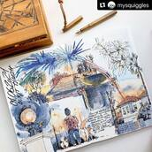 #Repost @mysquiggles with @make_repost ・・・ After more than a year of evening walks where the streets are so familiar, it feels as if I could draw it by memory. And yet new details can be found every time. And the fluffy doggies' butts are just delightful regardless of how many times one sees them.  This page is an example of one of the exercises agains languishing. That feeling of passive stagnation many of us are experiencing.  💡 Take a camera, a phone or a sketchbook, and record all the little things that made you happy during your walk. It might be hard in the beginning, but I promise you it'll get better and you will start seeing more and more of those things ❤️  It could be simple doodles and don't at all have to be beautiful completed drawings (or drawings at all, photos or writing will do!), but you might surprise yourself by getting inspired and doing more when you are home! I did the colour at home, and during the walk my sketches looked like the one on the next photo.  Let's go with me today, I'll post my doodles in my stories to keep you company ❤️  #mysquiggles_sketch #mysquiggles_singapore #languishing #howtodraw #sketchbook #watercolorsketchbook #kovalsketchbooks #watercolorsketch #artdiaryquarantine #artbook #journaling #artjournal #artjournalpages #fountainpen #howtosketch #drawingonlocation #eveningwalk #lockdownwalks