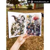 """#Repost @ninaludkowska_art with @make_repost ・・・ TO LIVE ✨  I believe we should do things that make us """"live"""" as often as we could. And the summer is the best place to do it. What are your favourite activities to feel alive? ☺️✨💙   Sketchbook by @kovalsketchbooks  #szkicownik #akwarelowanie #watercolor_flower #sketchbooking #kovalsketchbooks #aquarela #acuarelasobrepapel #watercoloring #акварельныйскетч #скетчингкаждыйдень #скетчбук #malowanie #naturepainting #inspireme #pleinairpainting #latvia #beinthemoment #stayingalive"""