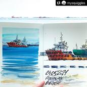 #Repost @mysquiggles with @make_repost ・・・ The Southernmost Point of continental Asia now features even more ships and tankers parked in its waters. Being also the reason why despite having beautiful beaches, Singapore is not a resort place where you can swim and snorkel without risking some skin rush. Still beautiful though :)  Watercolor and ink in @kovalsketchbooks prototype with hot pressed paper ❤️  #mysquiggles_sketch #mysquiggles_singapore #urbansketchers #usksg #walktosee #usk #sketchbook #sketchbookspread #sketchbookpage #watercolor #watercolorsketchbook #kovalsketchbooks #sentosa #palawanbeach #southernmostpoint